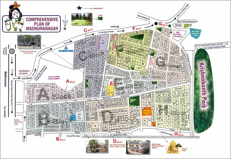 Madhuranagar Welfare Association Route Map - Us welfare map
